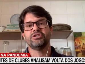 Guilherme Bellintani revela  cautela para volta do futebol