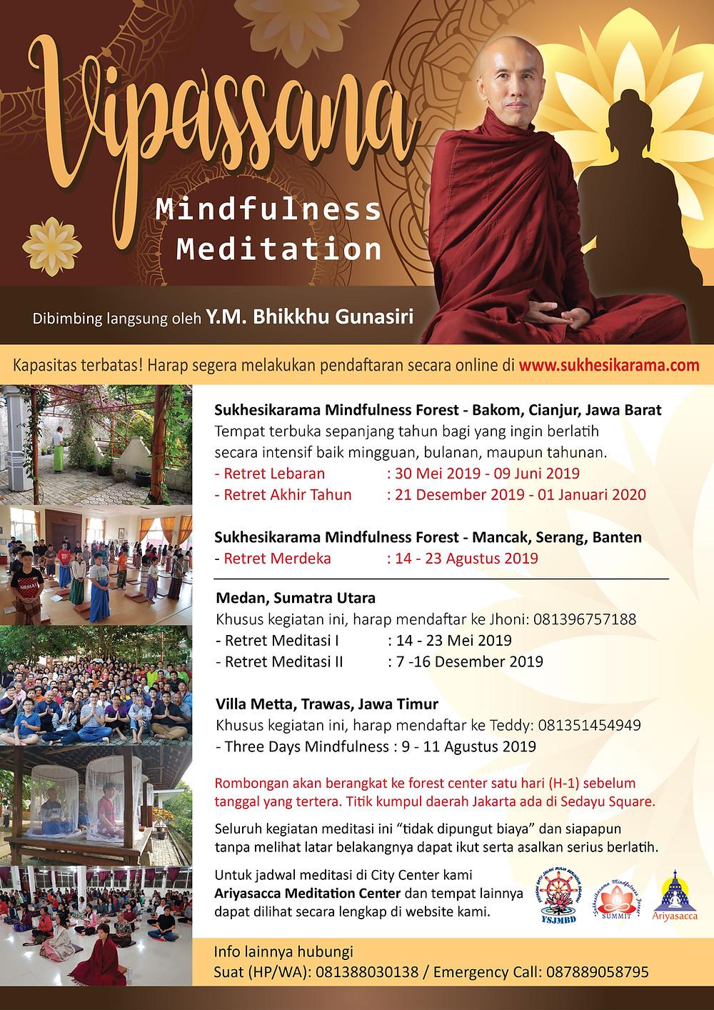 Retret Meditasi Vipassana 2019