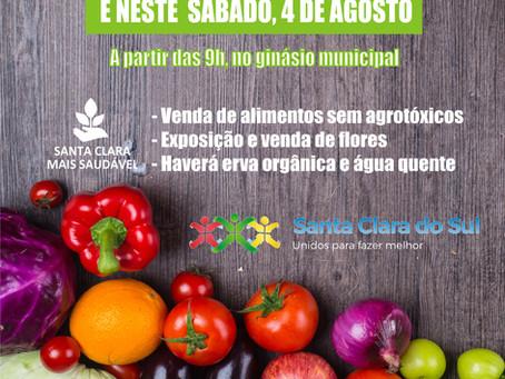 Feira de alimentos saudáveis começa neste sábado