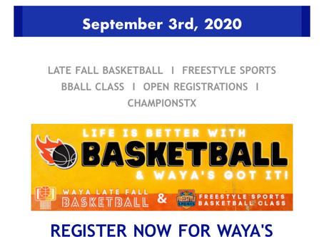 WAYA BBALL Programs-3ON3, 5ON5