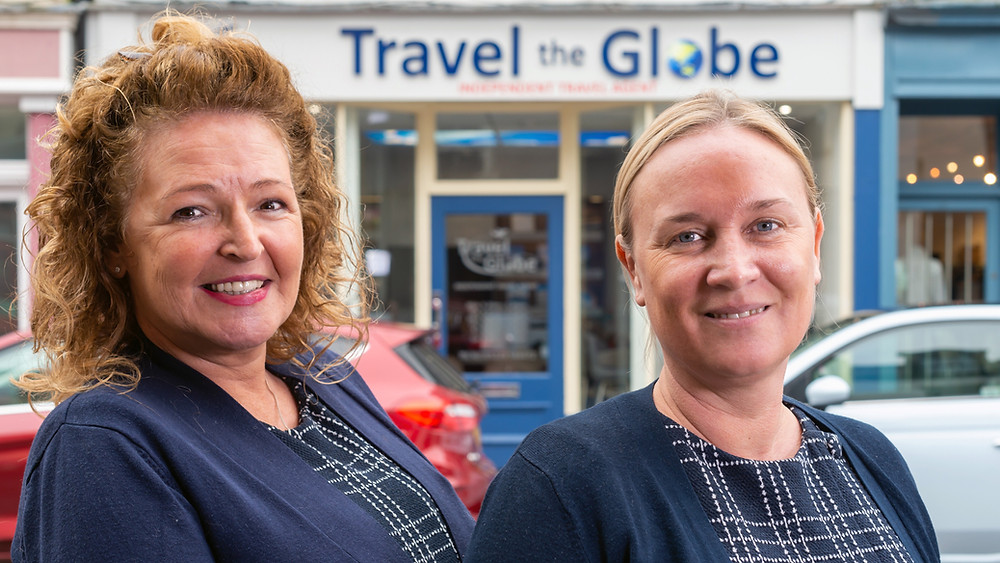 Lisa Barnes (left) and Claire Milby who own Travel The Globe