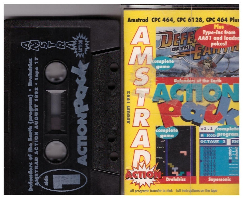 Amstrad Action Cover Tape