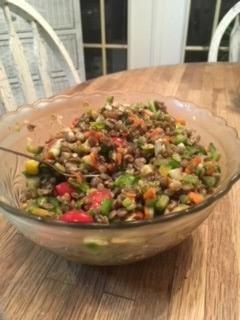 Lentil Salad Prepared by Jenny Favret