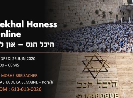 26/06/2020 - Parashat Kora'h - Rav Breisacher