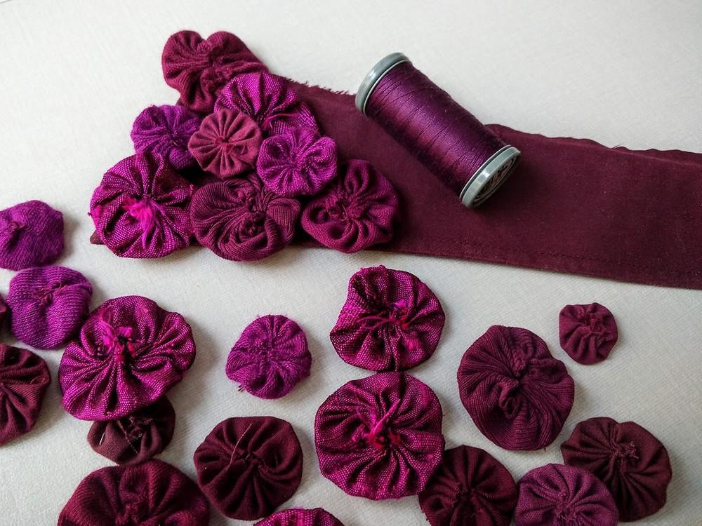 Top stitching yoyos