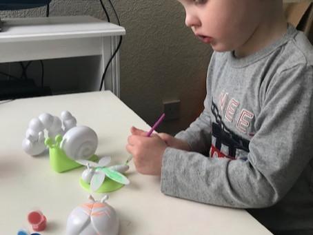 Painting mini beasts. Jack D Nursery