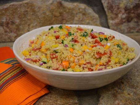 Gazpacho Style Quinoa Salad