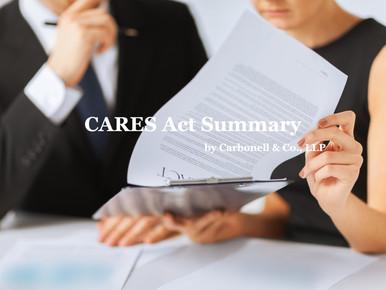 Important Communication: CARES Act Summary