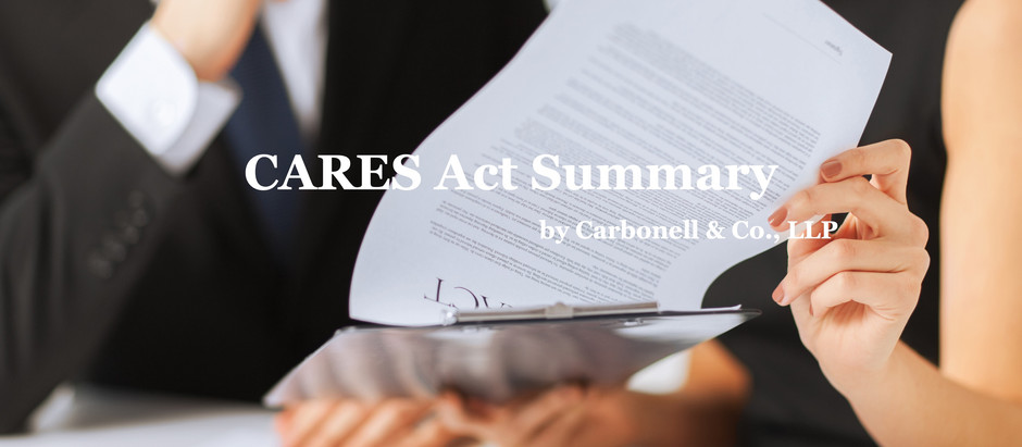 Important Communication: CARES Act Summary