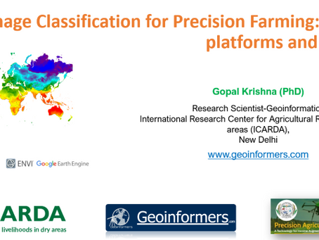 Various Platform, Sensors and Image Classification for Precision Agriculture: An Intro