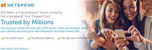 Earn $20 Netspend Refer Bonus