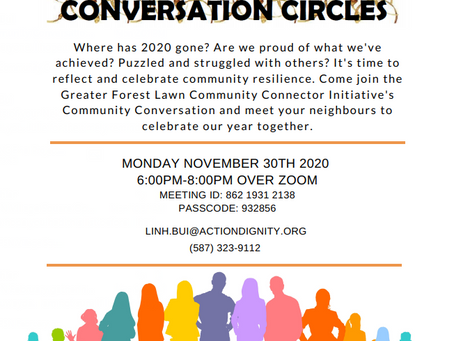Greater Forest Lawn Community Conversation Circles Nov 30