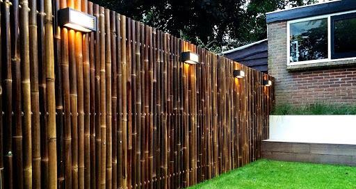 cerramientos de jardín: bambú natural