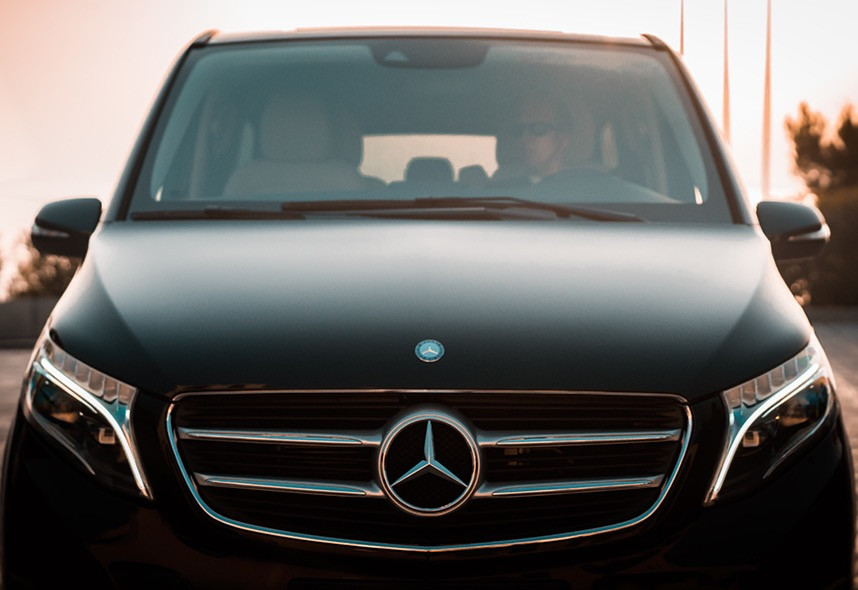Transfer in Greece on Mercedes-Benz.