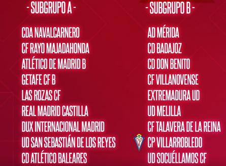 El CP Villarrobledo encuadrado en el grupo V subgrupo B y comenzará a competir el 17-18 de octubre