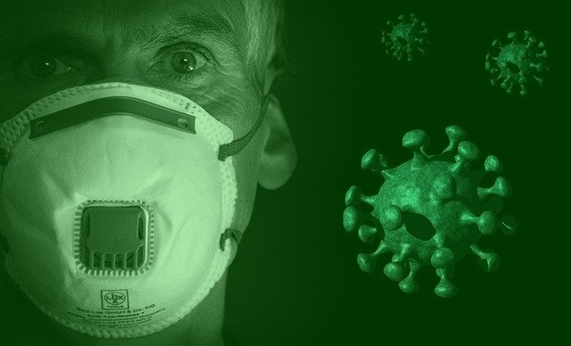 Enfermero con mascarilla . corona virus