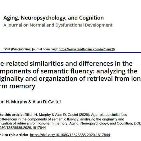 Age-related similarities and differences in the components of semantic fluency: analyzing the ori...
