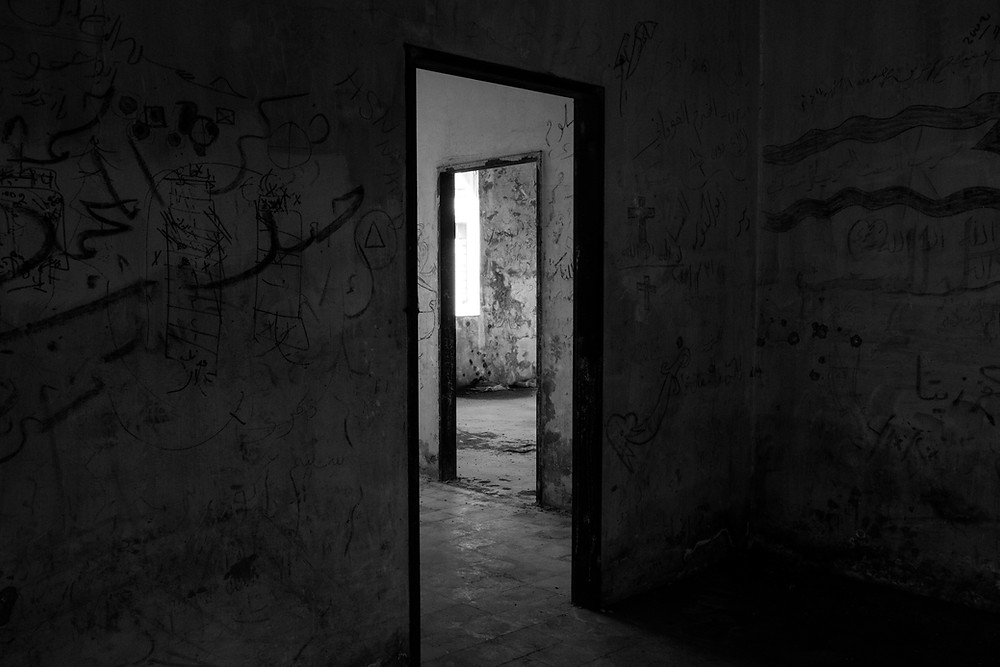 abandoned house, dark and brooding, forgiving after abandonement