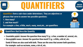 Quantifiers - Miktar Belirleyiciler