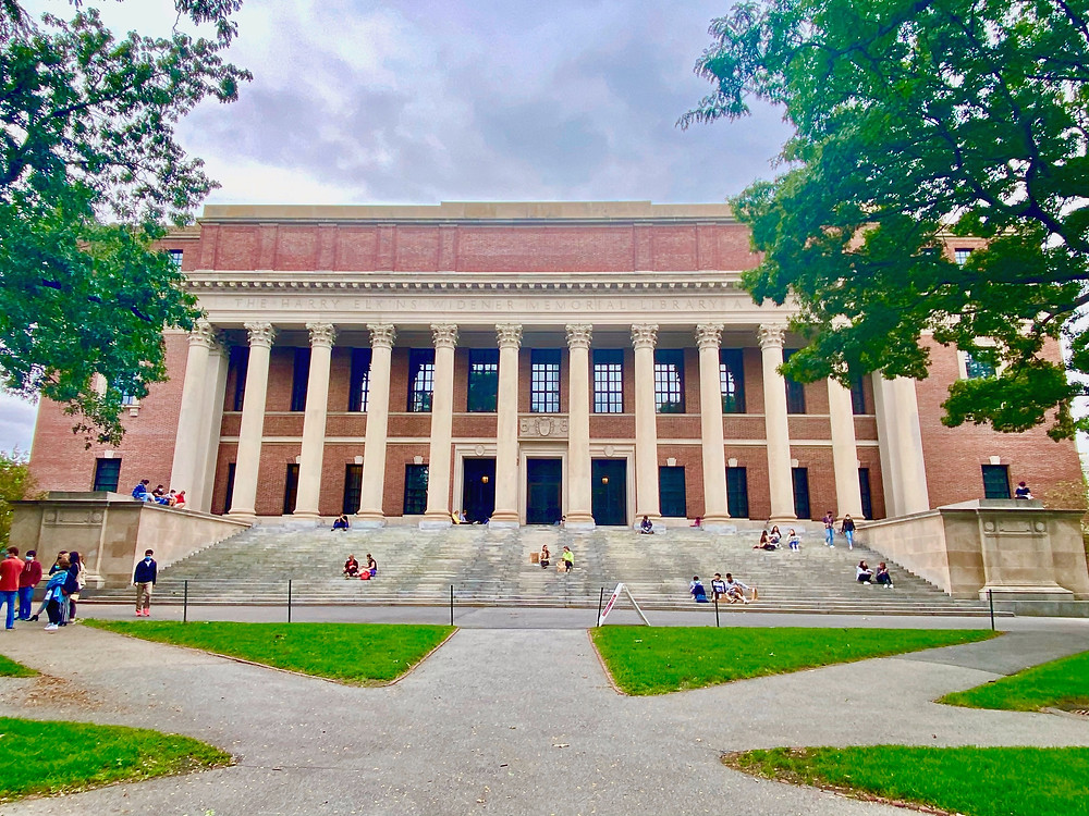 Widener Library in Harvard Yard