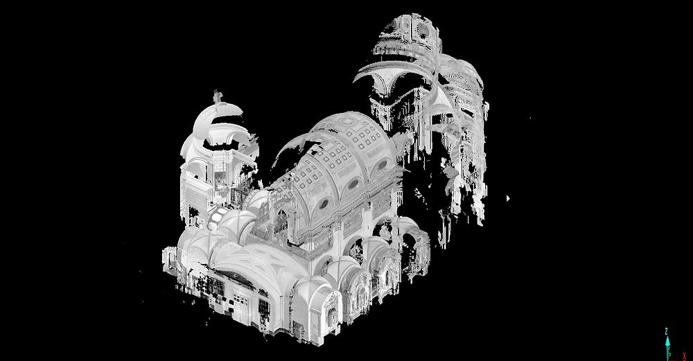 Nube de puntos - Escaneo láser 3D - Georeferenciación