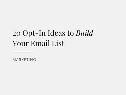 20 Opt-in Ideas to Build Your Email List