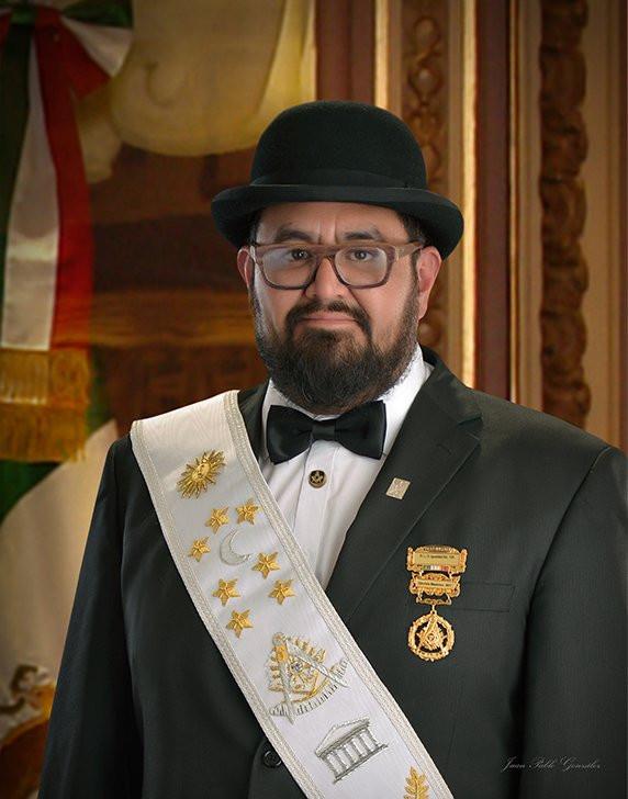 Ven∴M∴ electo 2019 - 2020, Ven∴H∴ y Past Master Edgar Aguilar Teyssier