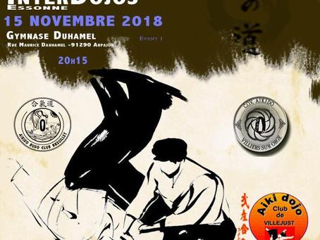 Stage inter-dojos à Arpajon le 15/11/2018