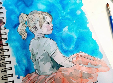 "Rachel Roach Water Color ""Lexi"""