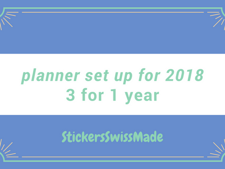 planner set up for 2018 - 3 for 1 year - with notebooks from William Hannah and Nanami Paper