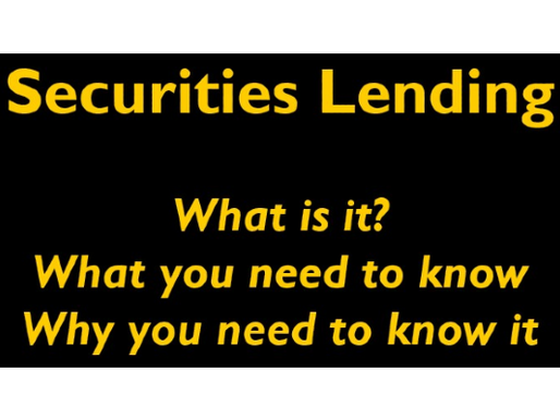 Free Download - A Basic Intro to Securities Lending