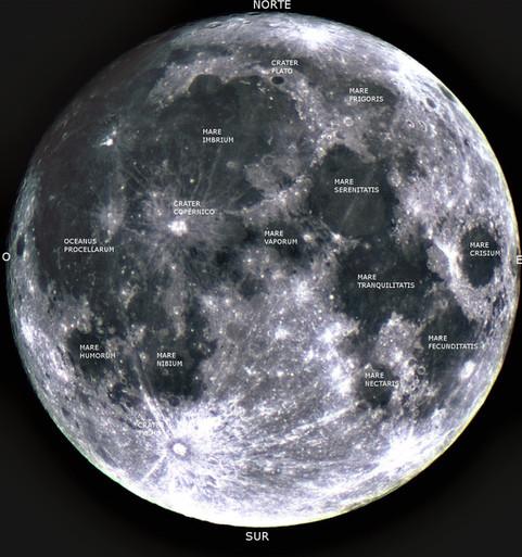 El relieve de la Luna