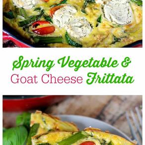 Spring Vegetable & Goat Cheese Frittata