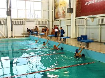 Районные соревнования по плаванию среди школьников