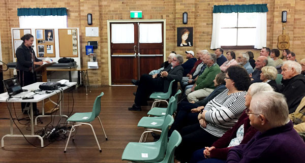 The presentation of a number of short stories at Kembla Heights Community Hall.