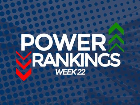 Power Rankings Week 22