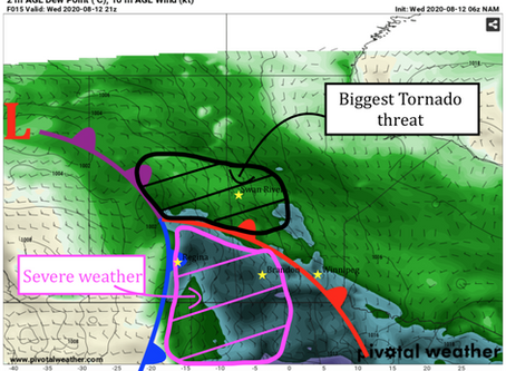 Tornado threat returns to SK/MB today