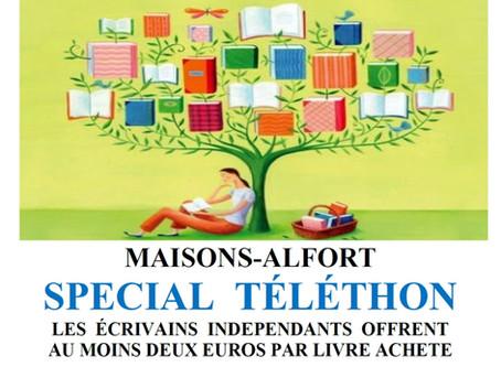 Téléthon. Dédicaces à Maisons-Alfort