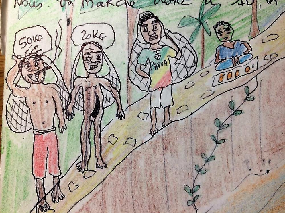 dessins carnet de voyage Papouasie