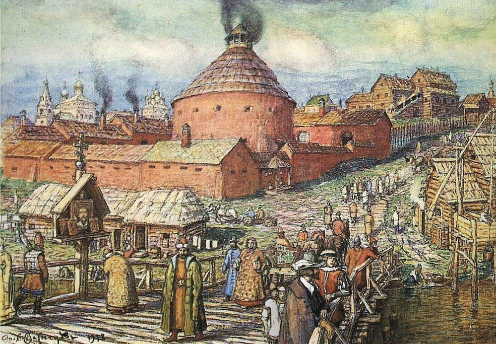 Пушечно-литейный двор на реке Неглинной в XVII век (1918 год)