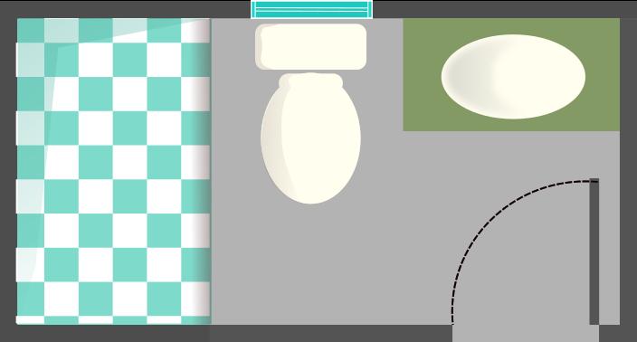 distribución de baño