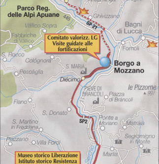 La Linea Gotica, Garfagnana e Versilia