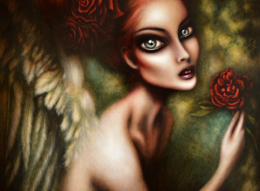 Angel Gabriel in the Enchanted Woods Painting by Tiago Azevedo