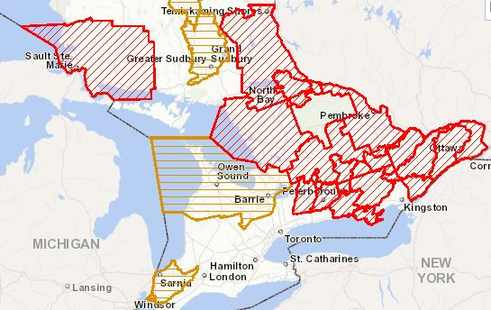Flood Alerts   April 26th, 2019   Southern Ontario   Ministry of Natural Resources and Forestry