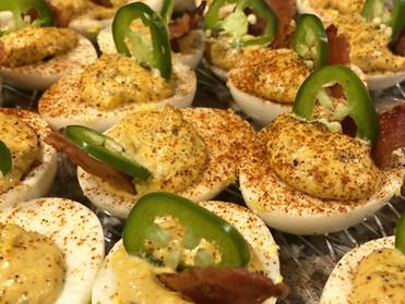 Bacon Jalapeño Deviled Eggs
