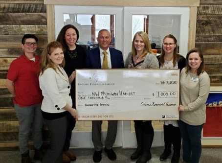 NWM Habitat receives donation from Encore Financial Group