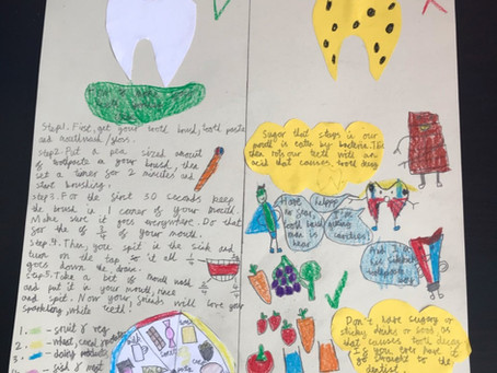 Fantastic information poster on how to keep your teeth clean by Ivani in 4P.