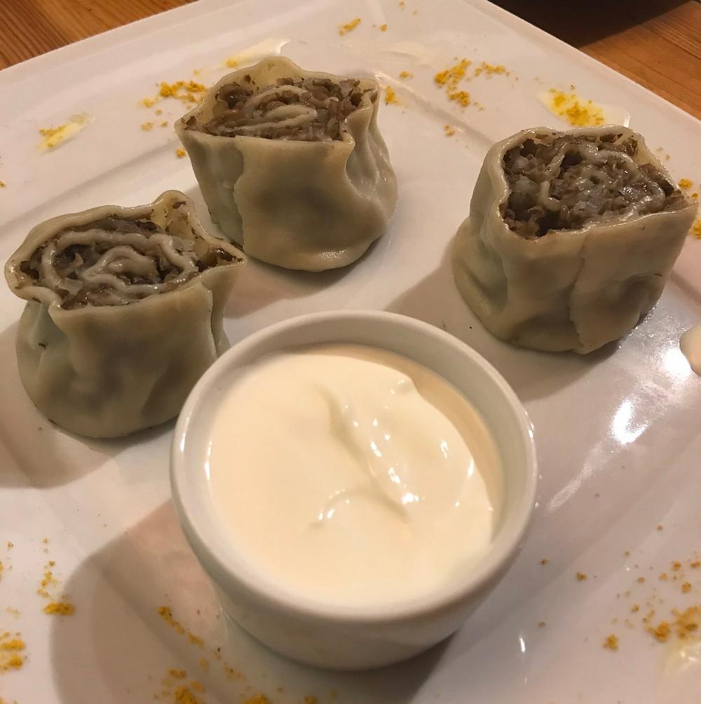 Dumplings from Pelmenya restaurant st petersburg russia