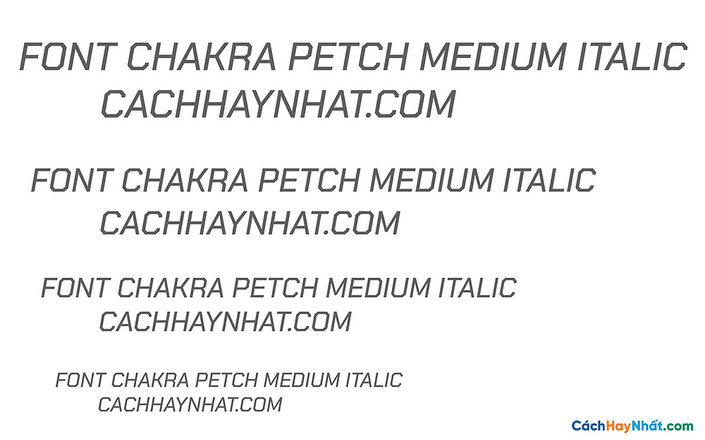 Font Chakra Petch Medium Italic
