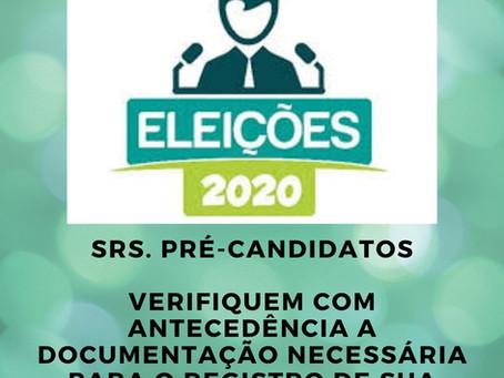 Documentos necessários ao Registro de Candidatura